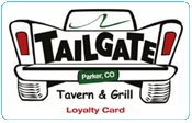 Tailgate Tavern Loyalty Card